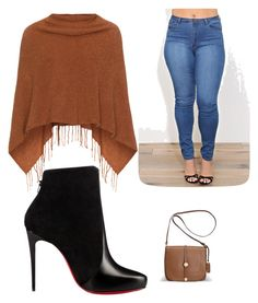 """Untitled #9"" by brooklyne200 on Polyvore featuring Samoon, Christian Louboutin and Avenue"