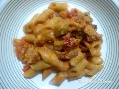 Farneticazioni Culinarie: Mezze penne con pancetta e melanzana