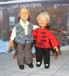 Ooak Miniature Man Asian Oriental Dollhouse 1:12 Hand Sculpted Original Doll by The Rogue Fairy
