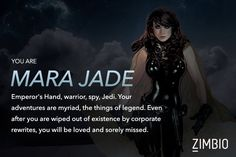 If I were in Star Wars, I would be Mara Jade! How about you?   #ZimbioQuiz - Quiz