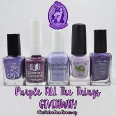 Awesome giveaway going on! http://www.mannasmanis.com/2016/03/the-color-box-purple-all-things-giveaway.html