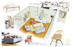 presentation/ So Déco, France, love that they have renderings of the furniture, and real pictures too!