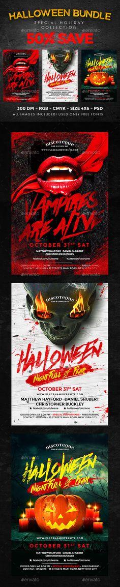 #Halloween - #Clubs & #Parties Events Download here: https://graphicriver.net/item/halloween/18315735?ref=alena994