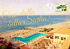 """Educate about the beauty of Sicily through real post cards with drinks menu printed on the back. Inspire travel to far off destinations Sempre - """"Tiramisu"""" Menu Printing, Drink Menu, Travel Channel, Illustration, Prints, Blog, Movie Posters, Inspiration, Vacation Ideas"""