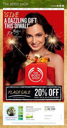 Flash Sale - 20% off offer valid from 3 to 5 November 2012 at all Body Shop stores | Deals, Sales, Offers, Discounts in Delhi-NCR | MallsMarket