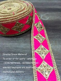 Get these beautiful laces for your outfits,for any purchase query kindly whatsapp+919878272300,+917696747289,international delivery available canada,USA,UK,Australia etc#laces#latkan#button#dress material#suit#Saree#material@nivetas