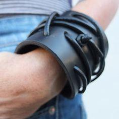 Leather cuff by urbandon menswear