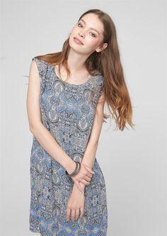 Kleid mit Musterprint von s.Oliver. Entdecken Sie jetzt topaktuelle Mode für…