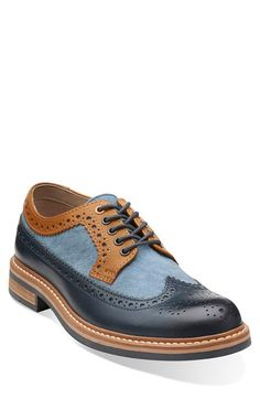 Clarks® Originals Clarks® 'Darby Limit' Spectator Wingtip Shoe
