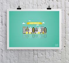 Amsterdam by Lienke Raben, via Behance