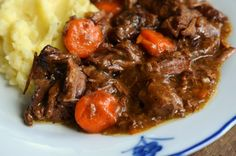Carbonnades - a traditional Belgian beef and onion stew made with Belgian beer.