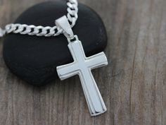 Classic Mens CROSS Sterling Silver cross for men by LifeOfSilver