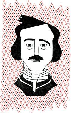 Edgar Allan Poe    Scrittore statunitense inventore del racconto poliziesco, della letteratura dell'orrore e del giallo psicologico. | Disegno le cose