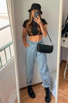 Retro Outfits, Cute Casual Outfits, New Outfits, Stylish Outfits, Girl Outfits, Look Fashion, 90s Fashion, Girl Fashion, Fashion Outfits