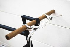 wooden bike handle