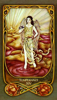 March 15 Tarot Card: Temperance (Fenestra deck) Turn your vision toward your own future now ... when you focus your concentration beyond this present moment, you allow yourself time to make adjustments that bring calm over chaos