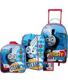 Thomas & Friends 4 Piece Kids Luggage Set Kids Luggage Sets, Thomas And Friends, Travel Luggage, Boys, Holiday, Summer, Baby Boys, Vacations, Summer Time