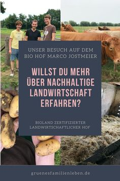 Wenn du mehr über #Bio-#Landwirtschaft erfahren möchtest, ist dieser Artikel genau richtig für dich! Wir haben den Bio Hof Marco Jostmeier besucht und uns alles genau erklären lassen. Zudem kannst du über den Hof Fleisch bestellen - wie das geht, liest du hier. Klick mal! #bioland Meier, Zero, German, Food, Sustainable Ideas, Sustainability, Sustainable Farming, Crop Rotation, Green Ideas