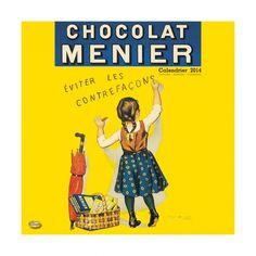 Calendrier 2014 - 30x30 cm - Chocolat Menier est une entreprise chocolatière française fondée en 1816 par Antoine Brutus Menier et elle a commencé à fabriquer les tablettes en 1856.