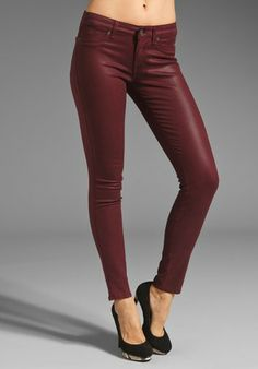 Rich & Skinny The Legacy Leather Look in Oxblood