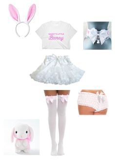 """Little Bunny"" by damageddoll on Polyvore featuring Bunny, kawaii, ddlg and petplay"