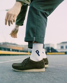 Image result for clarks wallabees on feet