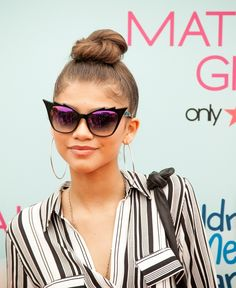 Hairstyle of the Month: Zendaya's Trendy Topknot