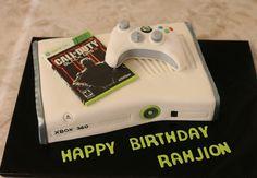 Xbox 360 birthday cake www.kittiskakes.com