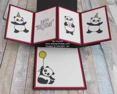 Stampin' Up! UK Demonstrator - Teri Pocock: Party Pandas - Pop-Up Panel Card