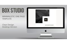 Minimalistic Landing  Page Muse . Website Templates