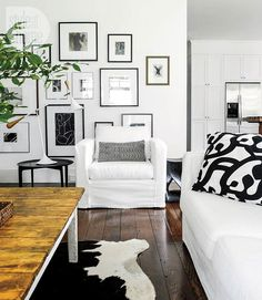 Great, easy to follow example of  creating a picture wall Home in Delta (7)