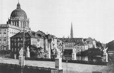 Berlin 1860 Schloss Bruecke und Schlossfreiheit