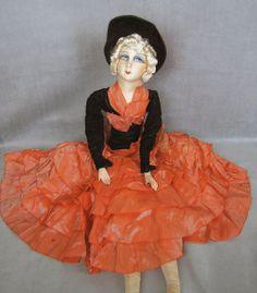 French Cloth Boudoir Doll