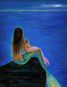Mermaid Art MermaidPainting Mermaids Art by LeslieAllenFineArt