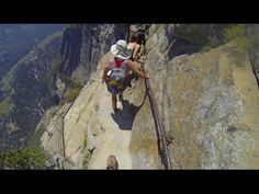 Enjoy uncut GoPro Head Strap footage of the SCARY part for me of Yosemite Falls Trail, the six-minute descent to the Upper Fall Overlook (starts at I. Yosemite National Park, National Parks, California Drought, Yosemite Falls, The Mountains Are Calling, Go Hiking, John Muir, Amazing Nature, Adventure Travel