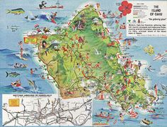 Physical+Map+of+Oahu   oahu and ideas for tourists what to do in oahu