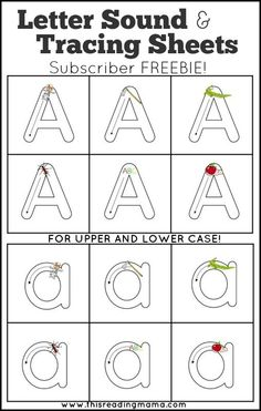 FREE Letter Sound & Letter Tracing Sheets ~ Practice early handwriting AND letter sounds at the same time!