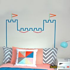 Washi Tape Headboard Castle DIY