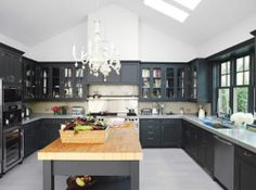 Charcoal Cabinets.