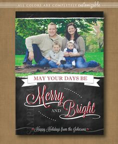 chalkboard christmas card, PRINTABLE @Reed Harden