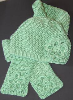 Sage Green Crocheted