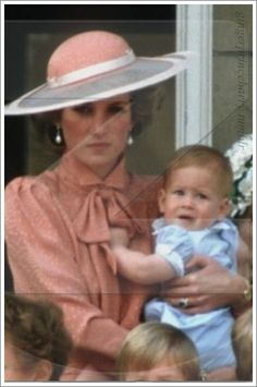 Princess Diana and Prince Harry /****She was angry about something in this picture! and I'm rather certain it had NOTHING to do with Harry.