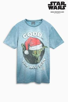 Buy Blue Star Wars™ Yoda Christmas T-Shirt online today at Next: Netherlands