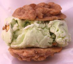 Pistachio Truffle Ice Cream! #sandwich #chunknchip #cookies #icecream #gourmet #foodtruck #weddings #SoCal