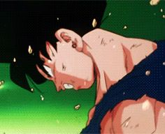 Goku turning super Saiyan for the first time :) ... They grow up so fast :')