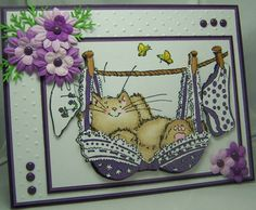Penny Black Cards, Penny Black Stamps, Art Impressions, Class Projects, Animal Cards, Stamping Up, Black Cats, Magnolia, Card Ideas