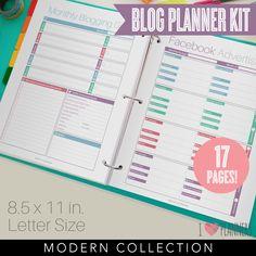 Blog-Planer-Kit sofort-Download 17 Seiten im von ILovePlanners