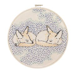 How Foxes Dreamed the World into Being Embroidery Kit by studiomme