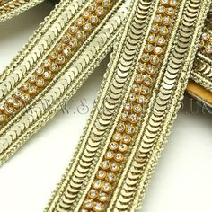 Sequin and faux crystal trim on thin fabric backing.Width - cm approx (at widest point) Length - 1 meter cm) Orders for more than one meter will be sent in one continuous piece. Rave Costumes, Festival Costumes, Afghan Clothes, Gold Tips, Passementerie, Lace Border, Lace Ribbon, Asian Fashion, Fashion Art