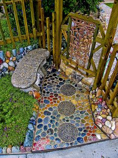 Beautiful Pathway.....love the colorful stones!